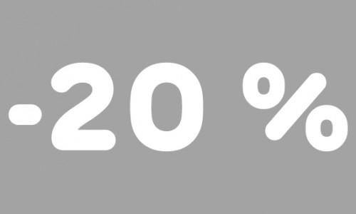 -20% rubrik