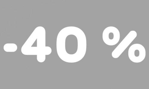 -40% rubrik