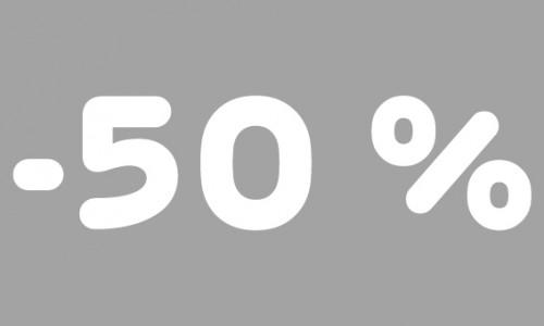 -50% rubrik