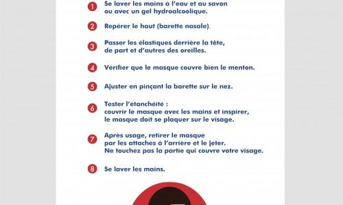 Affiche sanitaire masque (adhésif)