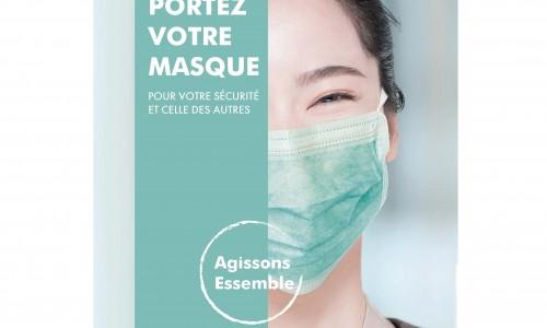 Affiche port du masque (adhésif)